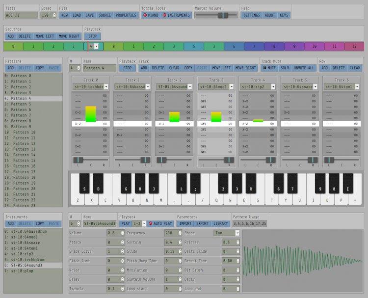Fast Tracker on line, crea música on-line.